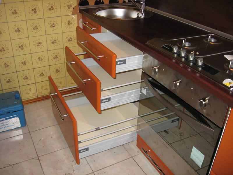 Выдвижные ящики для кухни